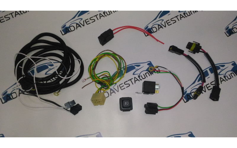 Набор проводов для подключения ПТФ Лада Веста