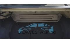 Накладка на усилитель кузова в багажнике Лада Веста Икар-Пласт