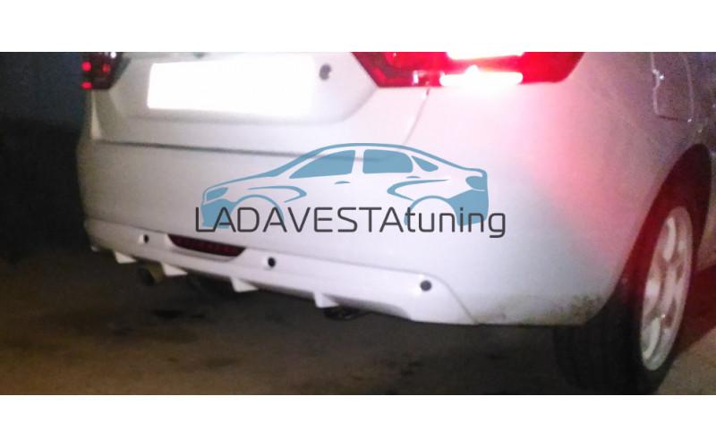 Накладка заднего бампера ЯрПласт для Лада Веста седан и универсал