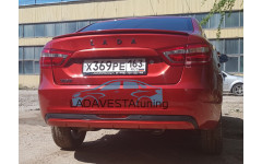 Накладка на задний бампер Икар-Пласт для Лада Веста седан и СВ Универсал