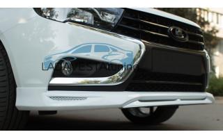 Юбка переднего бампера АСМ для Лада Веста седан и универсал